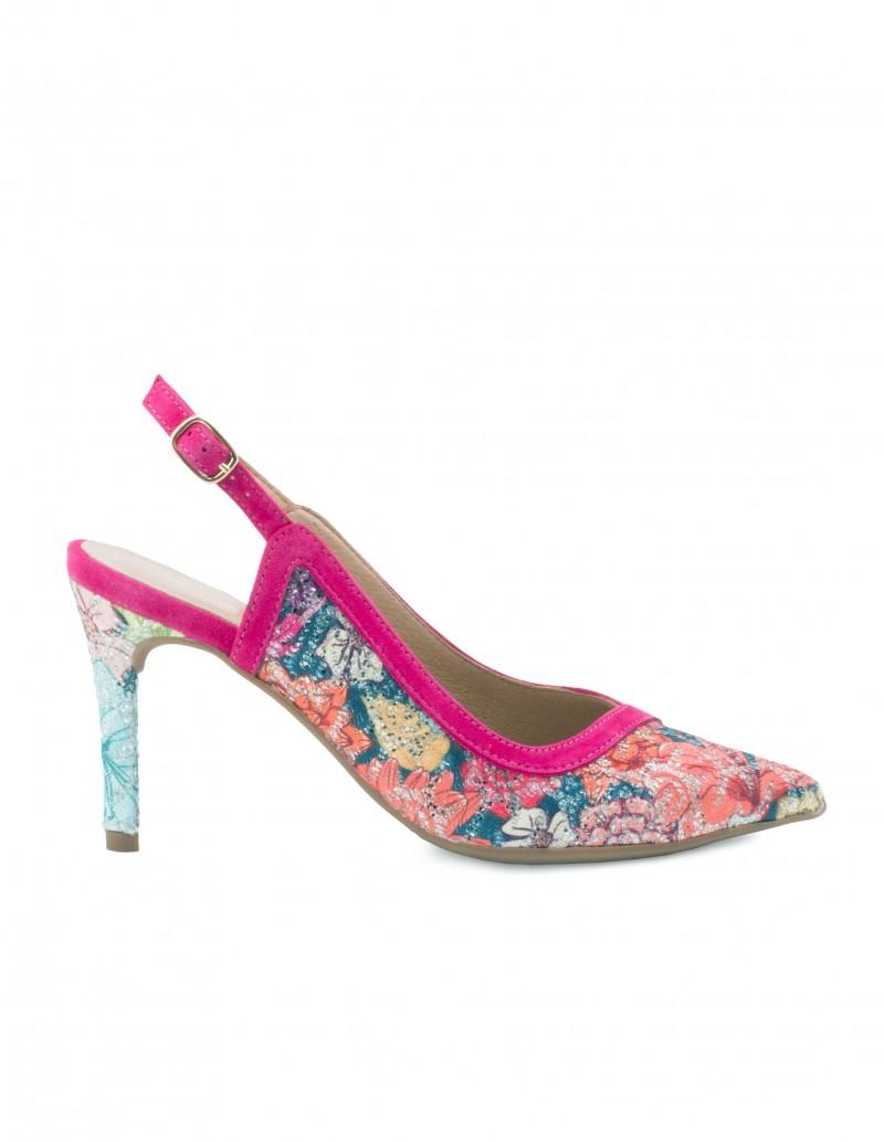 Zapatos Destalonados Tacón Estampados