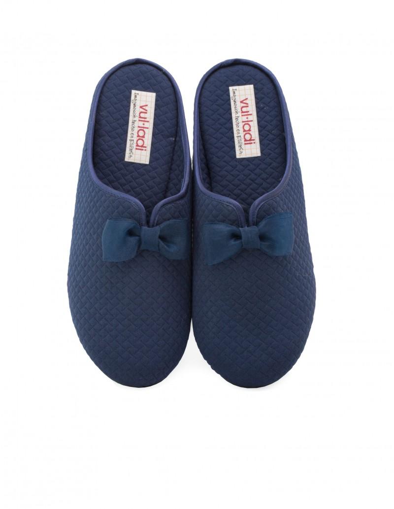 VULLADI Zapatillas Casa Lazo Azul