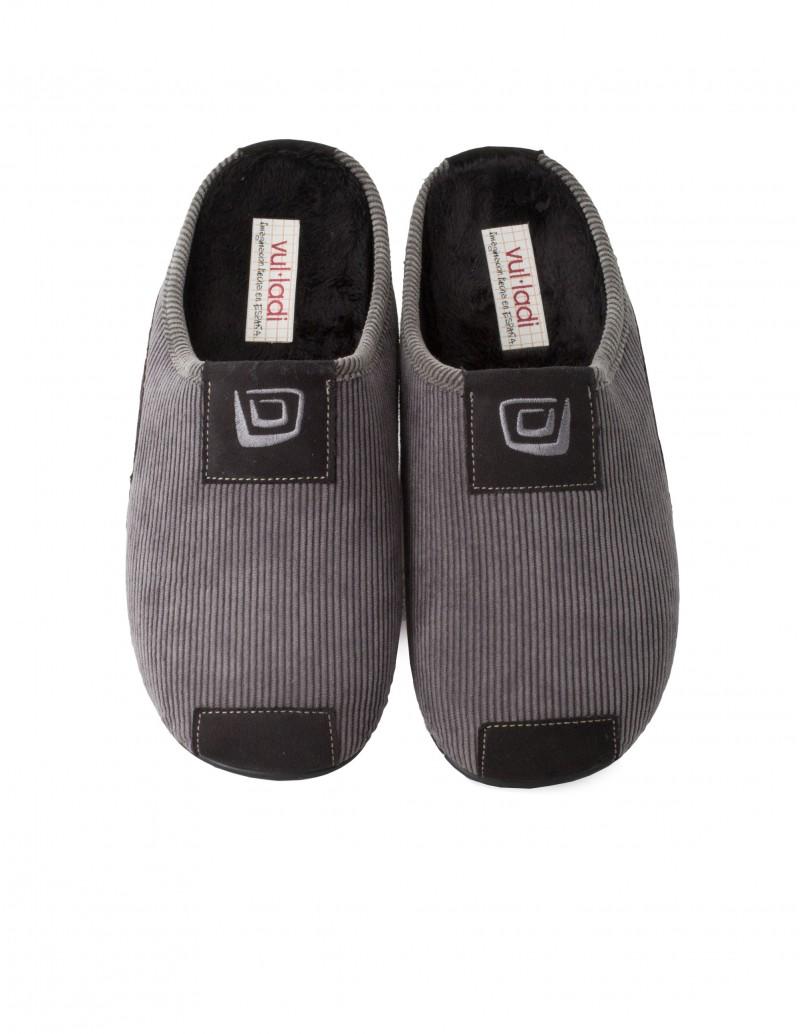 VULLADI Zapatillas Pana Descalzas Grises Hombre