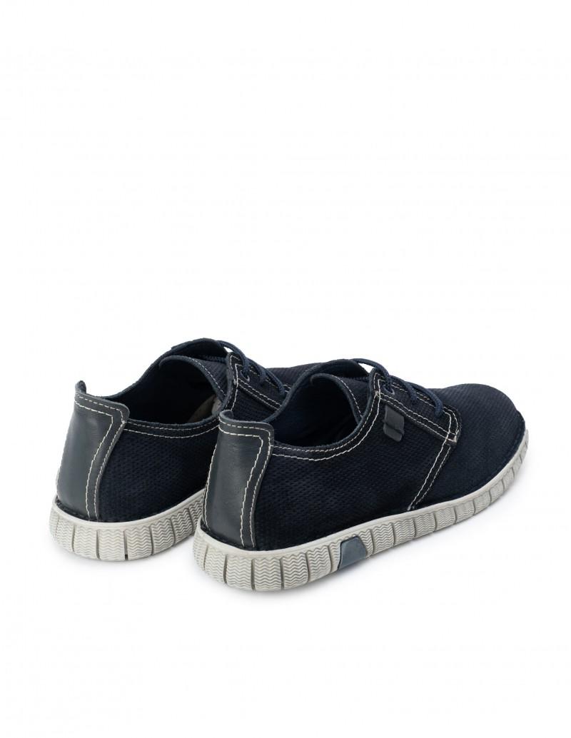 Zapatos Azul Hombre Suela Deportiva