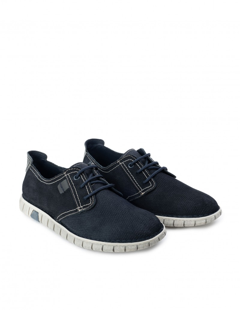 Zapatos Serraje Azul Marino Hombre
