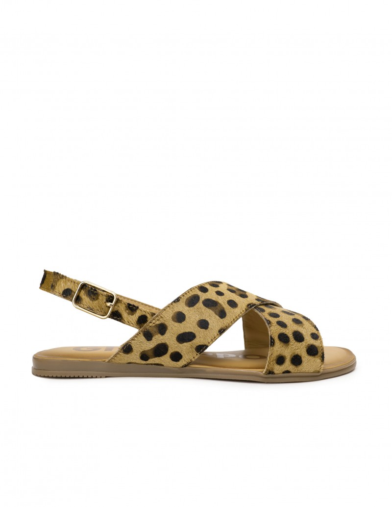 GIOSEPPO Sandalias Leopardo Tiras Cruzadas