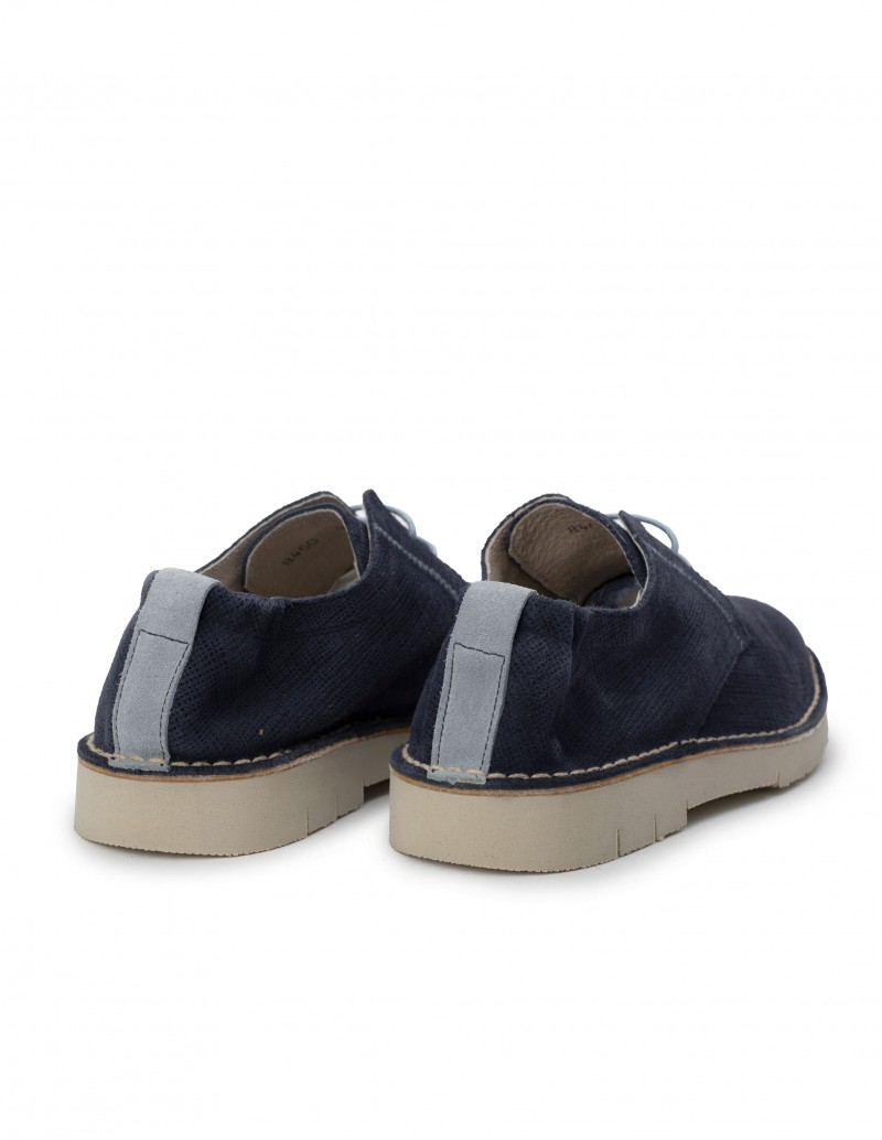 Zapato Derby Serraje Azul Marino
