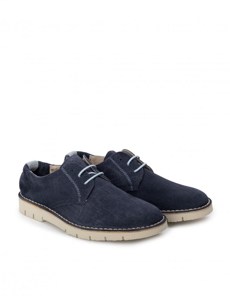 zapatos ante azul verano hombre