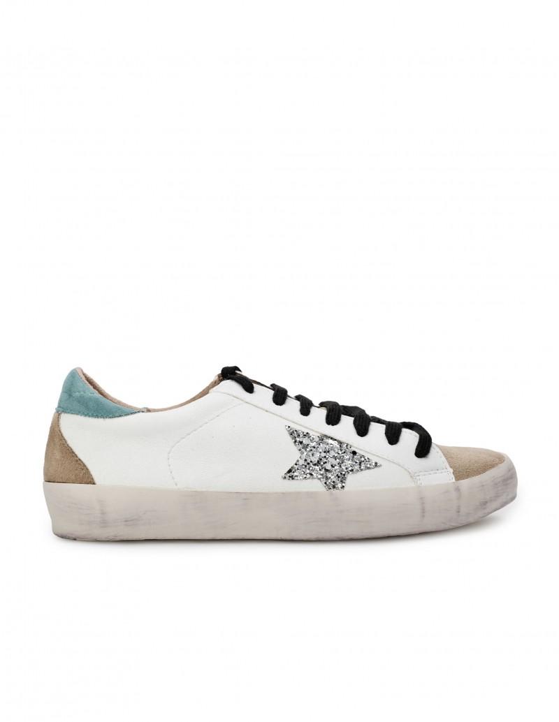 Zapatillas Estrella Purpurina Plateada