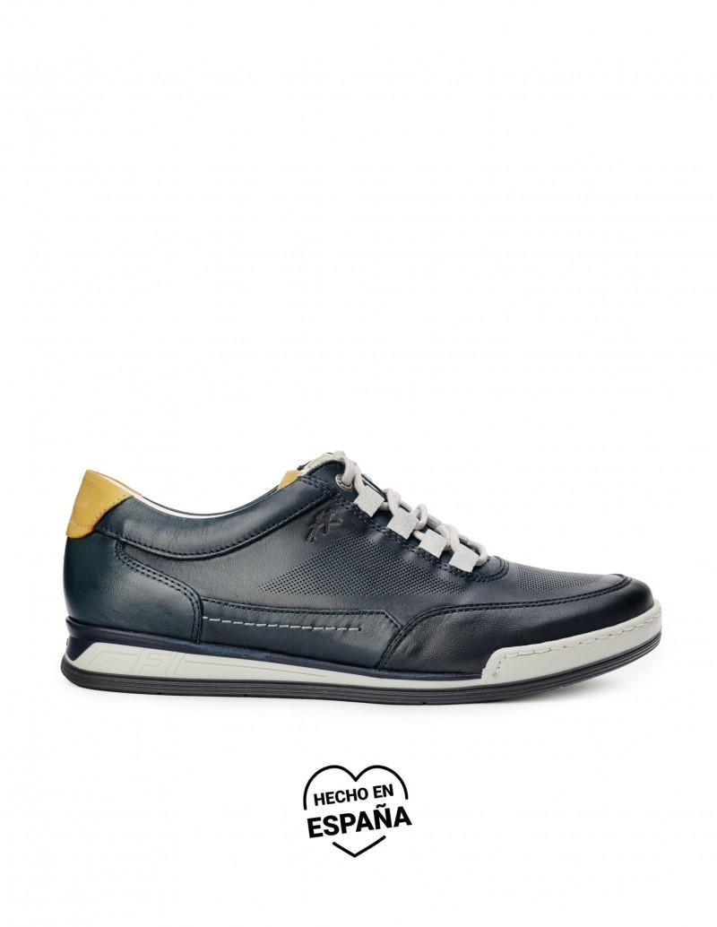 FLUCHOS Zapatos Deportivos Piel Azul Marino