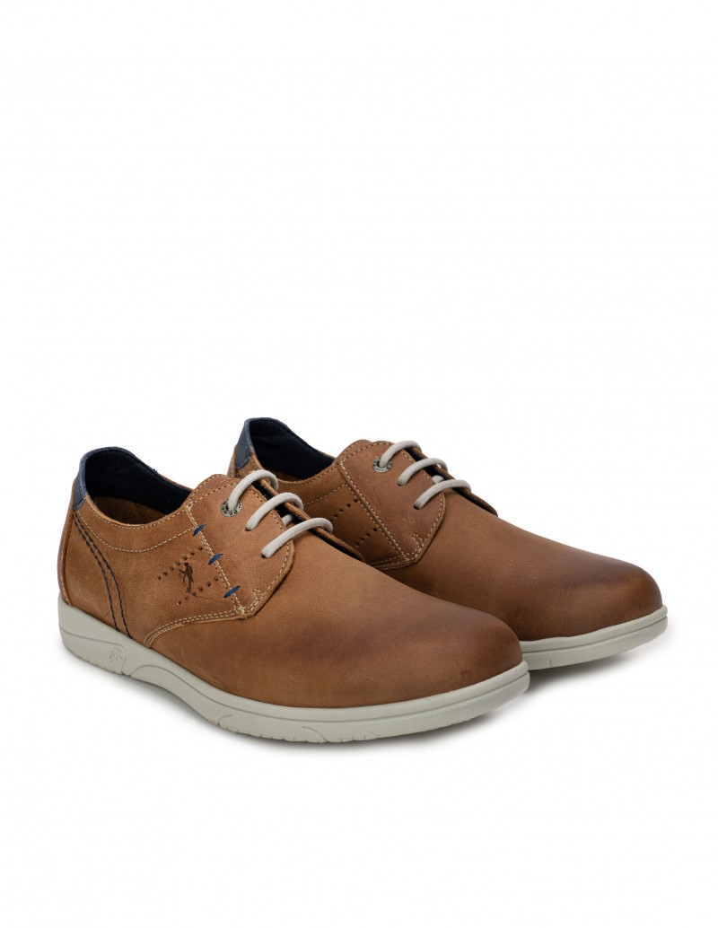 Zapatos Sport Hombre Cordones Cuero