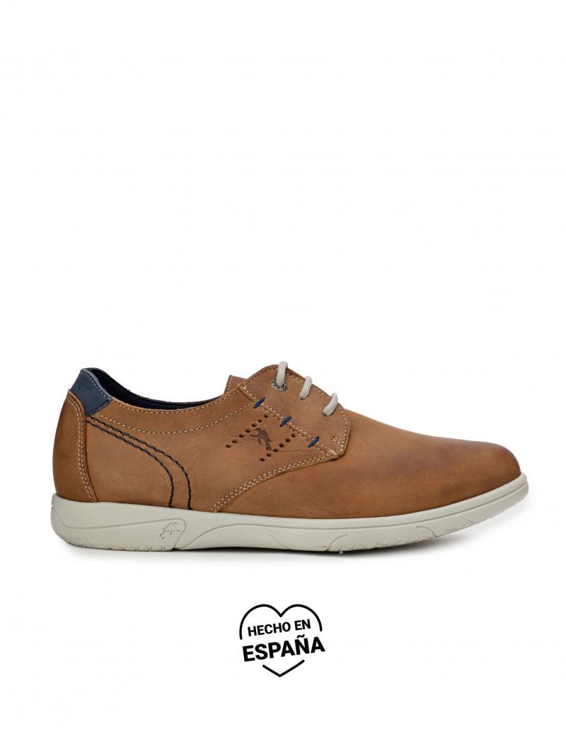FLUCHOS Zapatos Sport Cordones Cuero