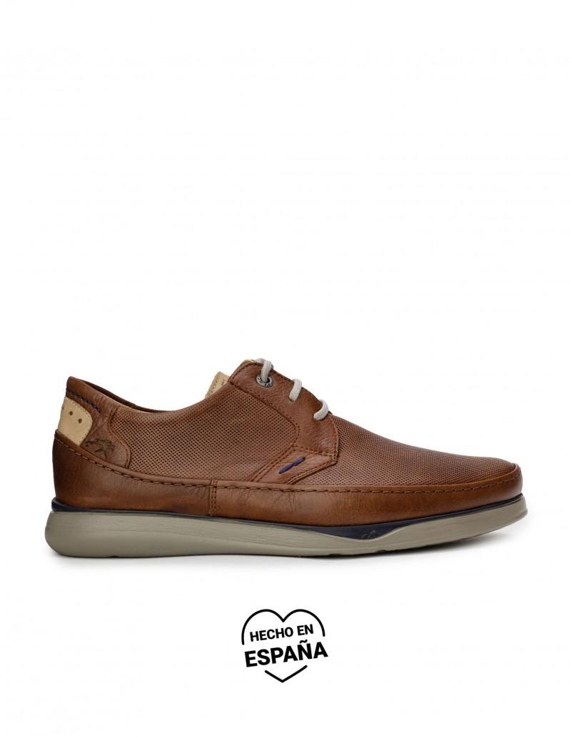 FLUCHOS Zapatos Sport Cordones Piel Marrón