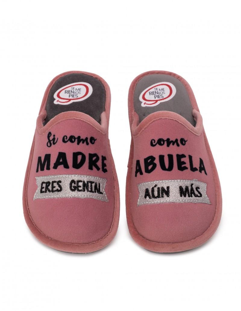 SE ME RÍEN LOS PIES Zapatillas Casa Abuela Rosas