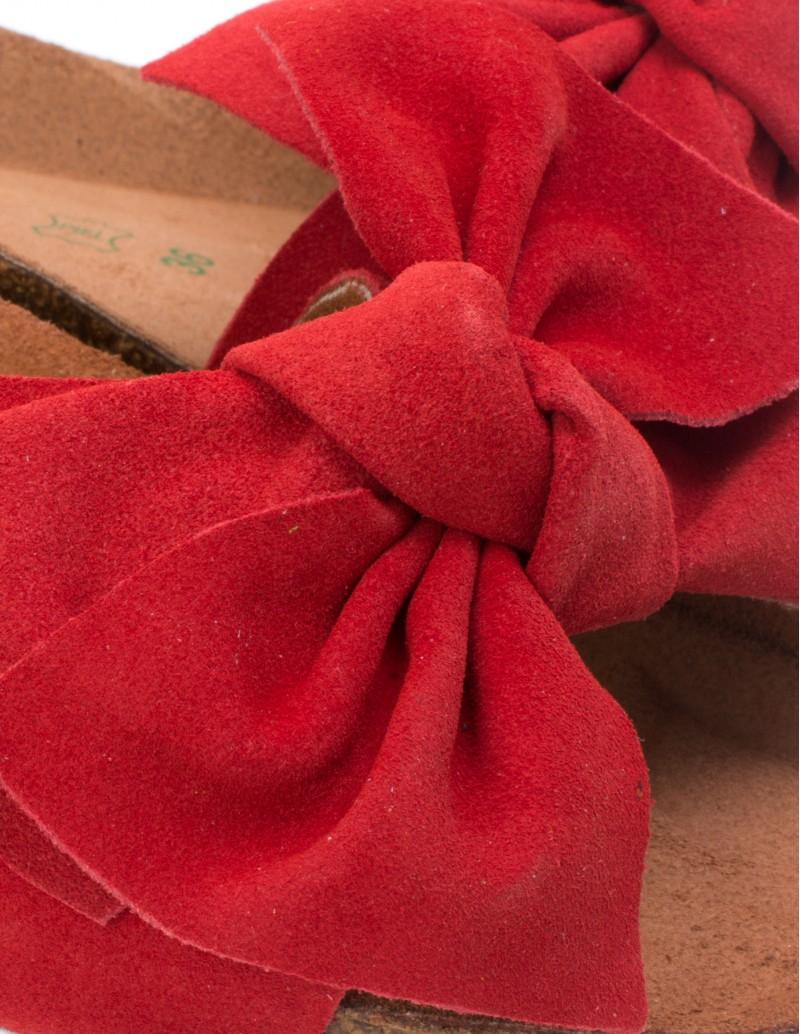 Sandalias lazo rojo