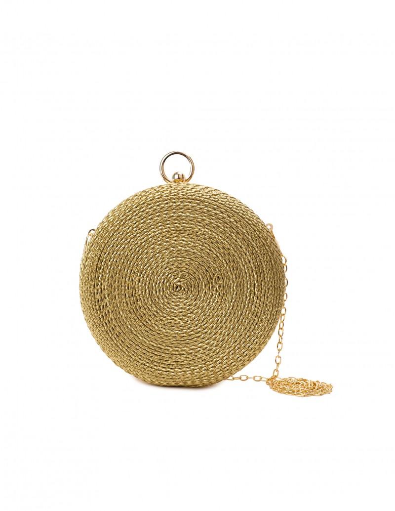 Clutch Redondo Cordón Dorado