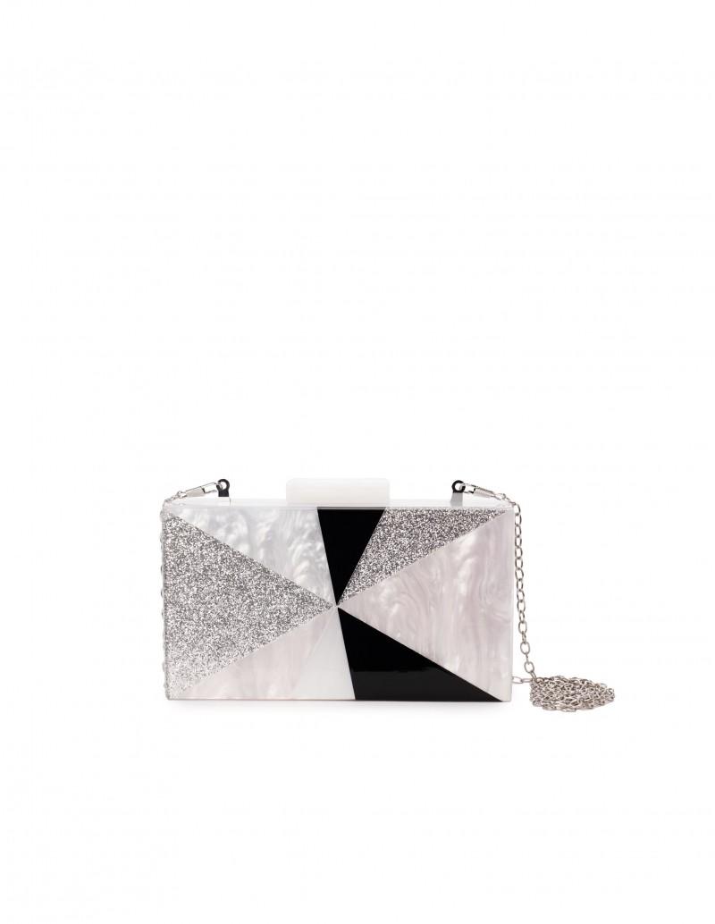 Clutch Caja Fiesta Nácar Glitter
