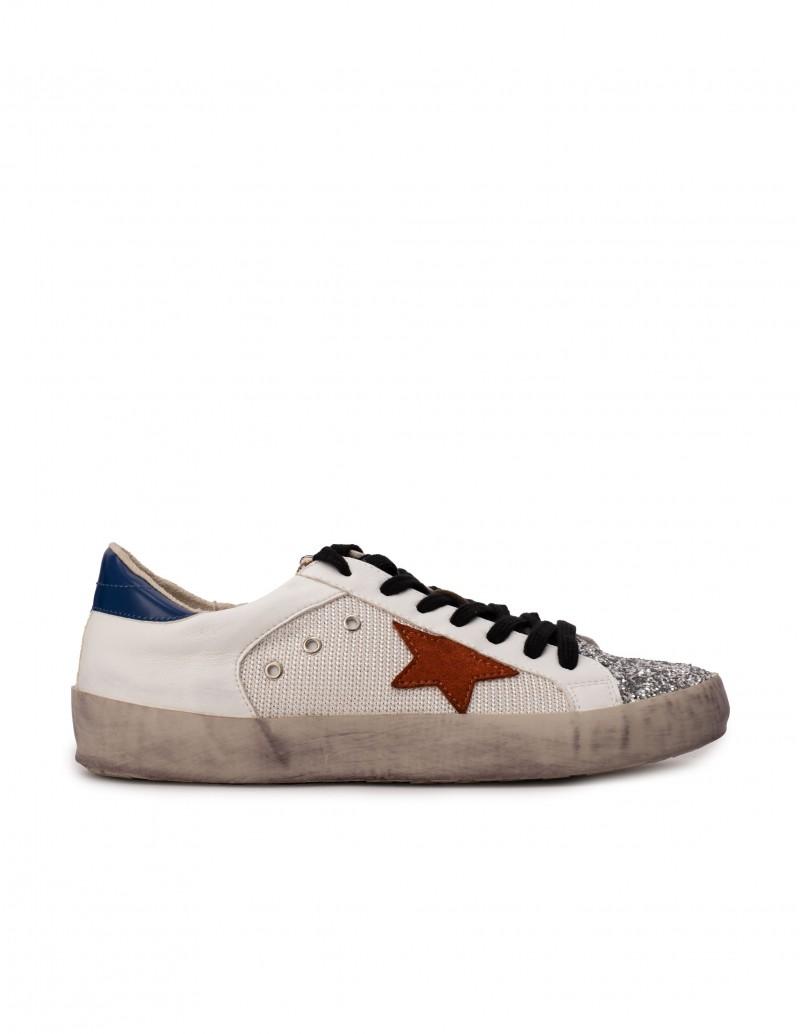 Zapatillas Estrella Blancas Puntera Purpurina