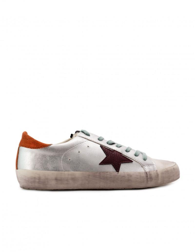 Zapatillas Estrella Plateadas