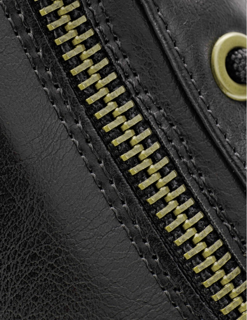 botines cordones negros mujer