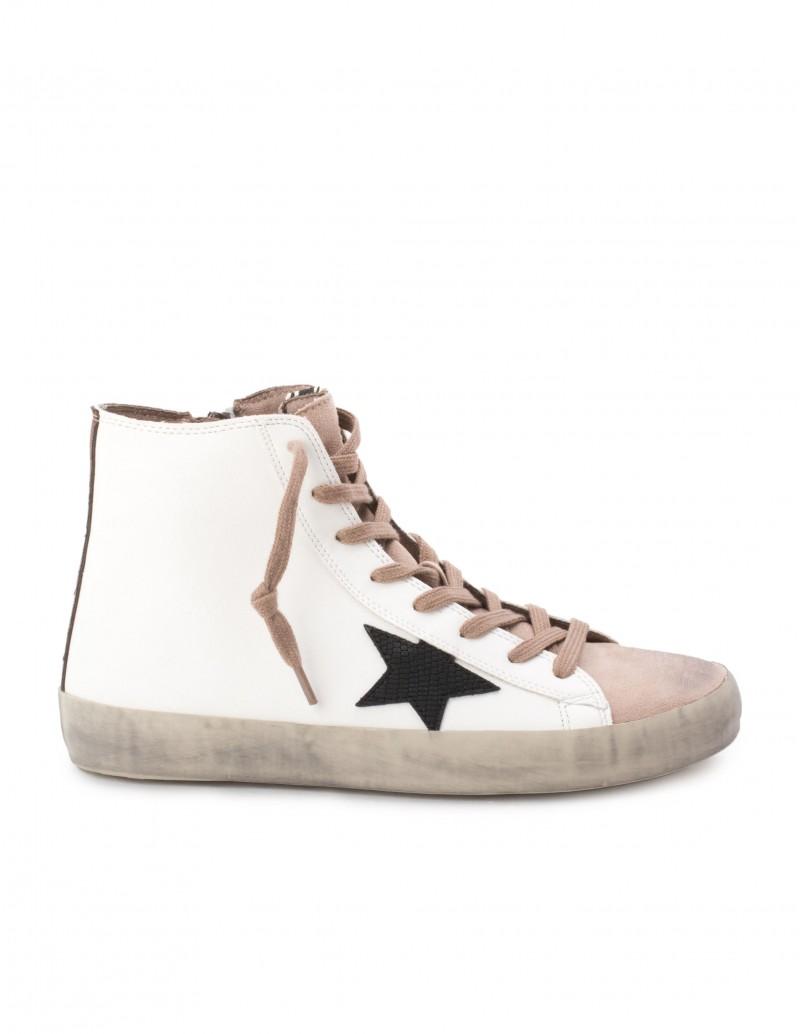 Zapatillas Altas Estrella Blancas
