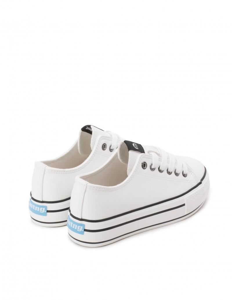 zapatillas plataforma blancas