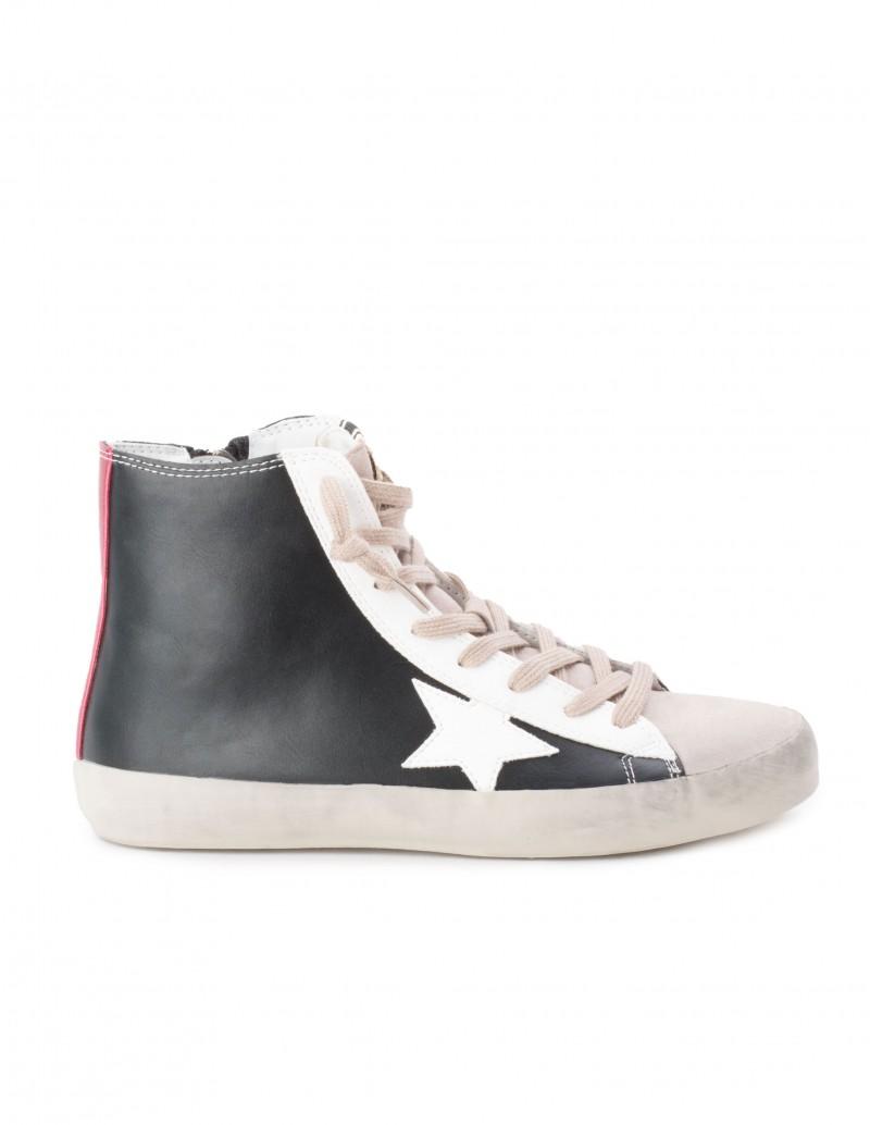 Zapatillas Altas Estrella Negras