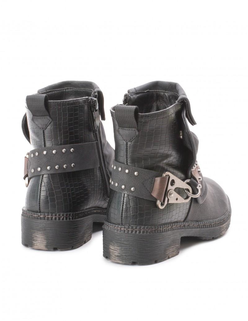 botas moteras negras