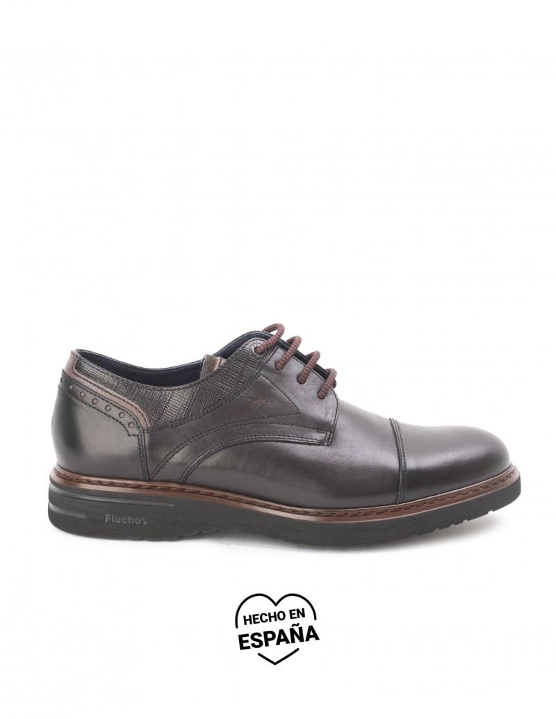 FLUCHOS Zapatos Vestir Piel Negros