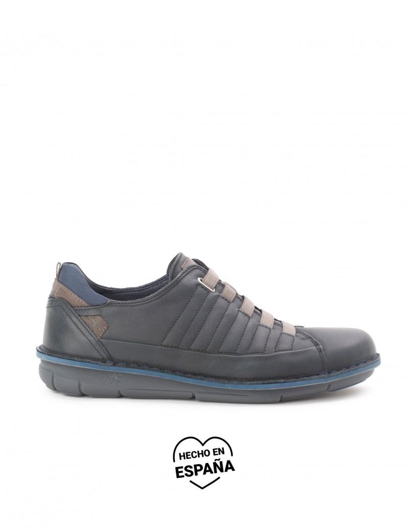 FLUCHOS Zapatos Cordones Elásticos Azul Marino