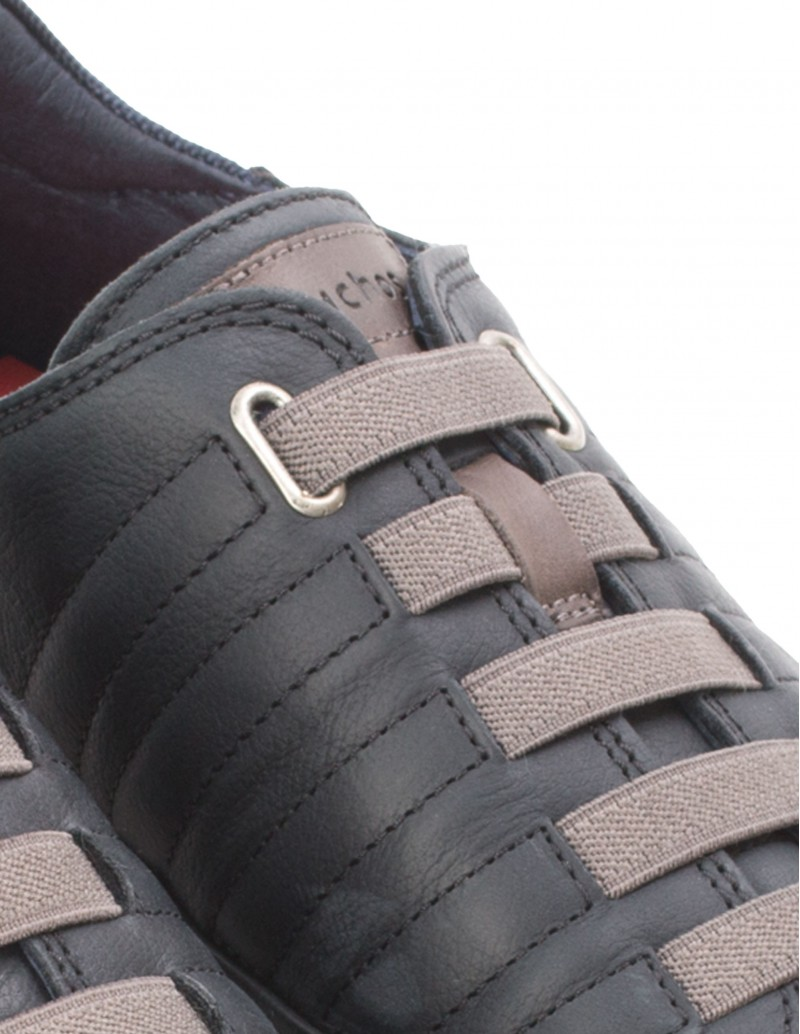 Zapatos Cordones Elásticos Hombre