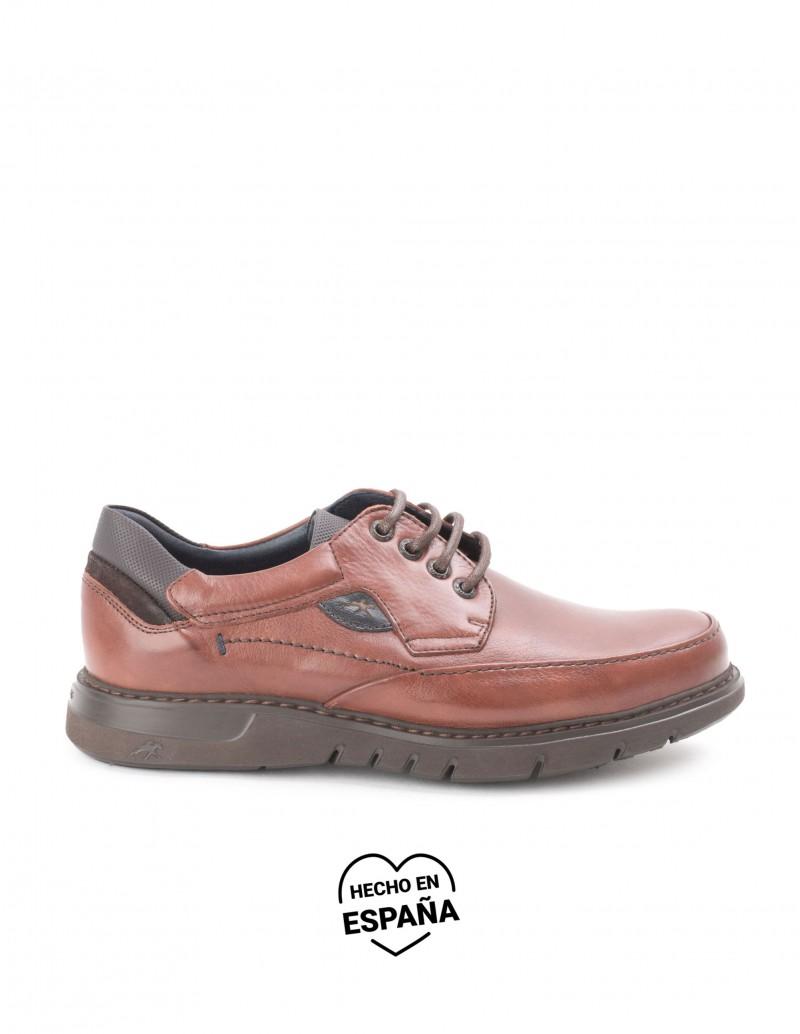 FLUCHOS Zapatos Piel Cordones Bordón Marrón