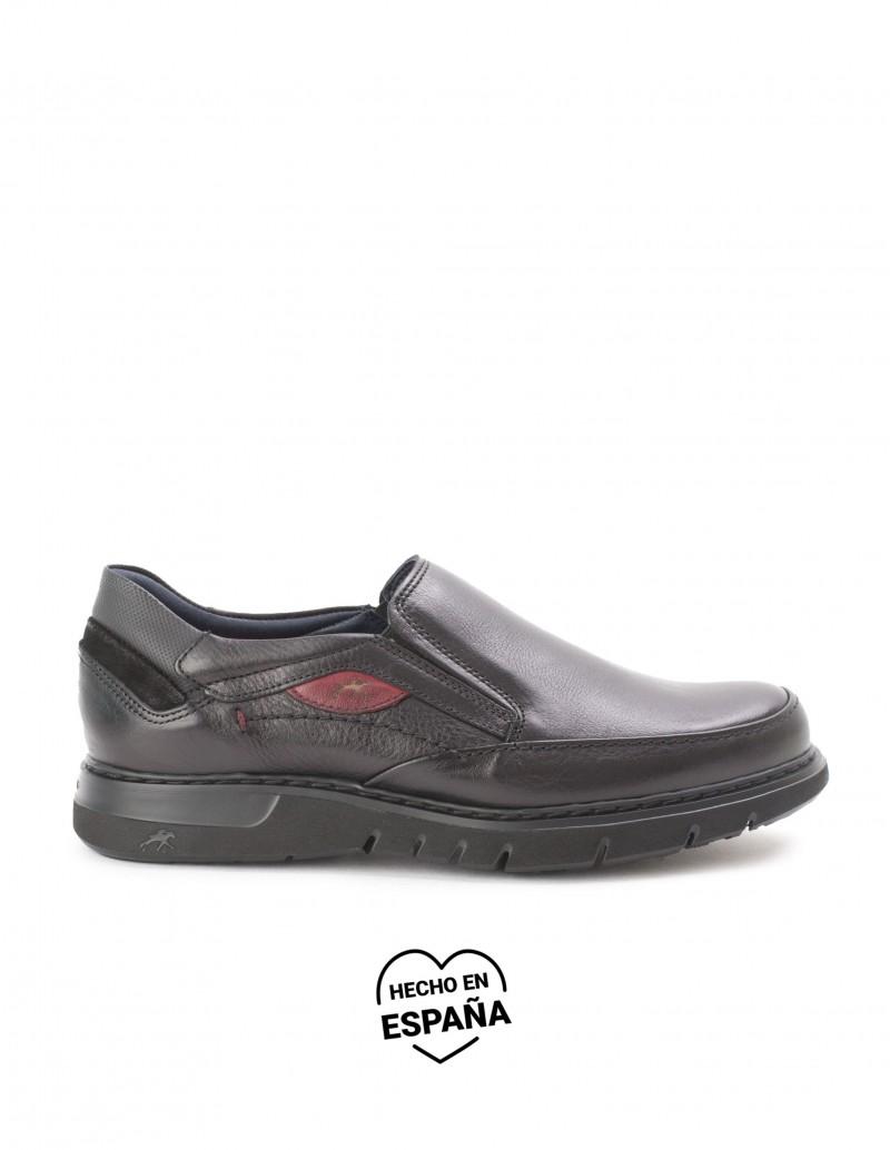 FLUCHOS Zapatos Mocasines Negros