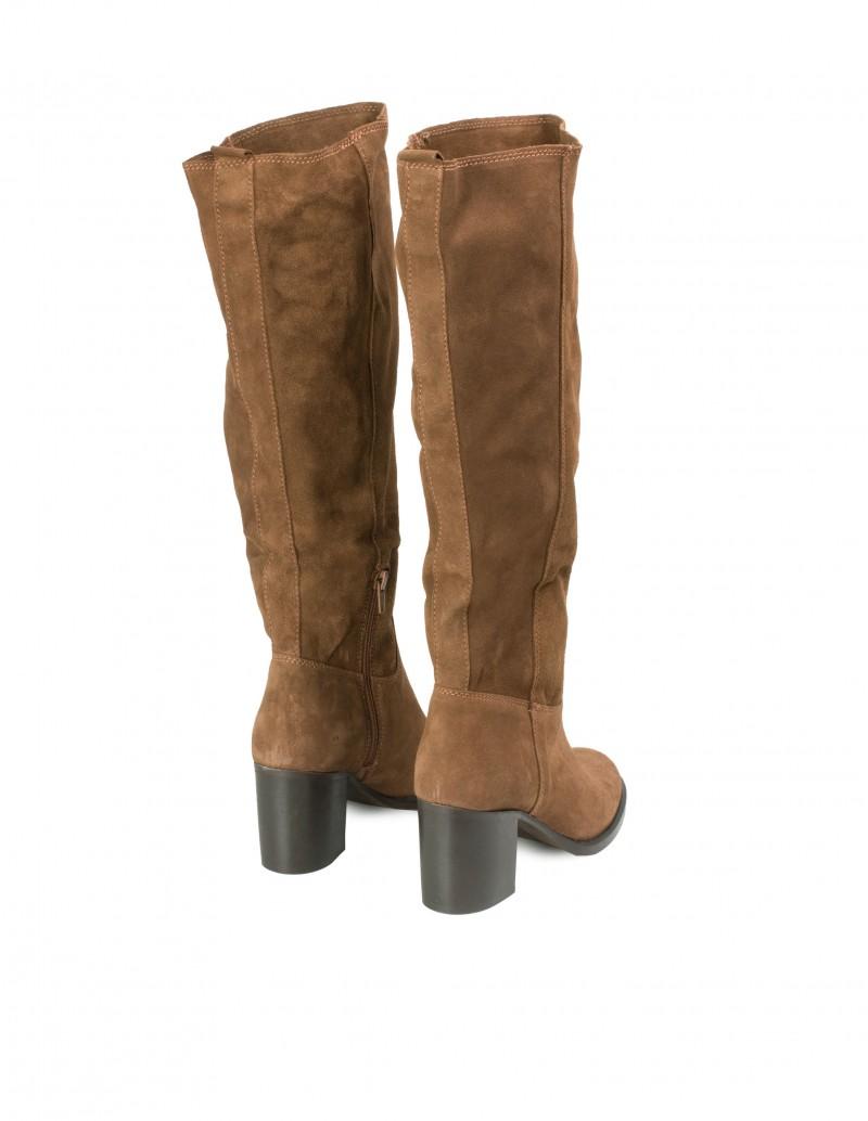 botas altas ante camel tacón