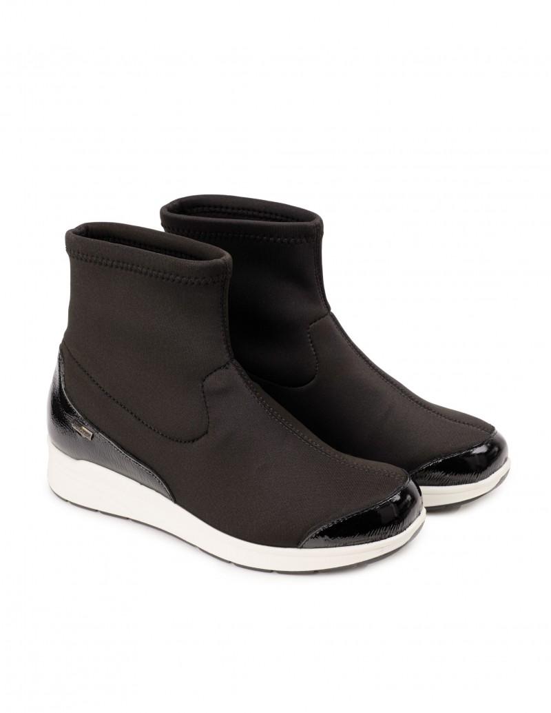 botines calcetin negro mujer
