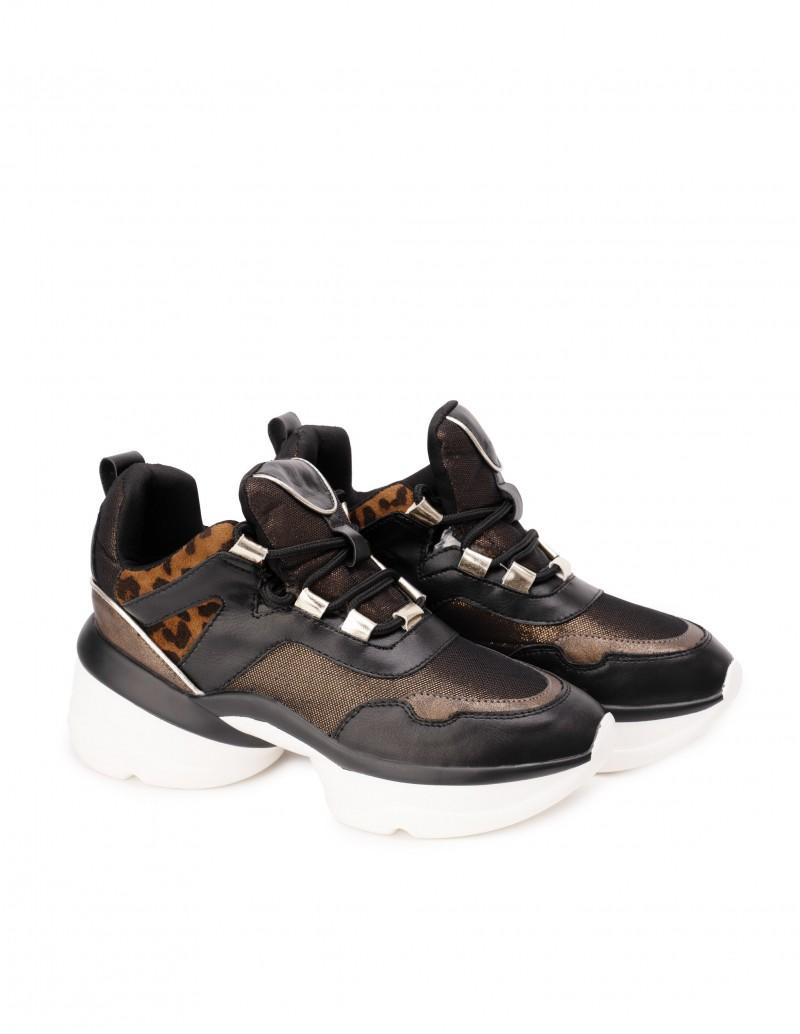 Zapatillas Estampado Animal Plataforma