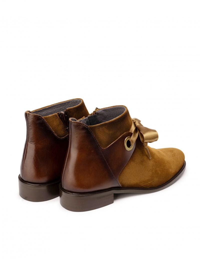 botines ante marrón mujer