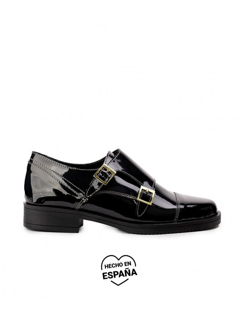 Zapatos Hebillas Charol Negros