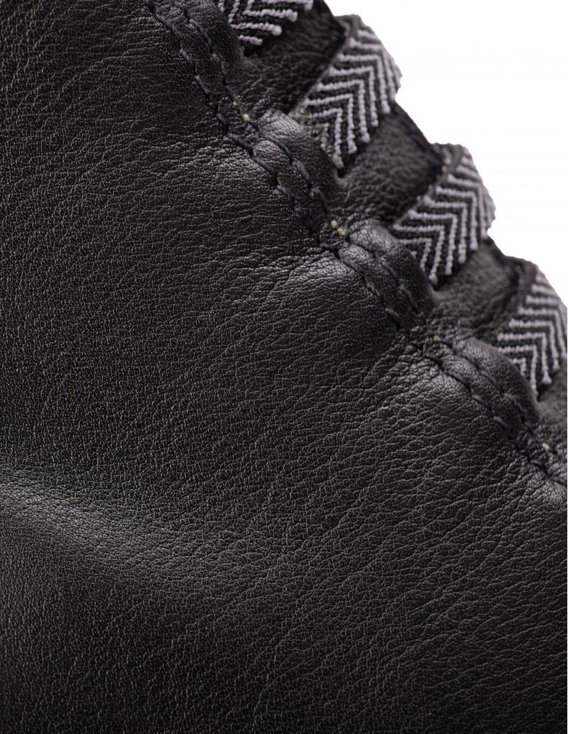 botines cordones con cuña negros