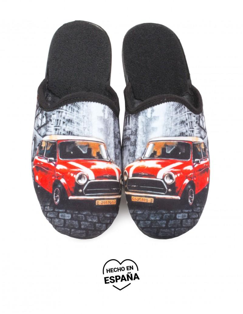 Zapatillas de Casa Coche Rojo