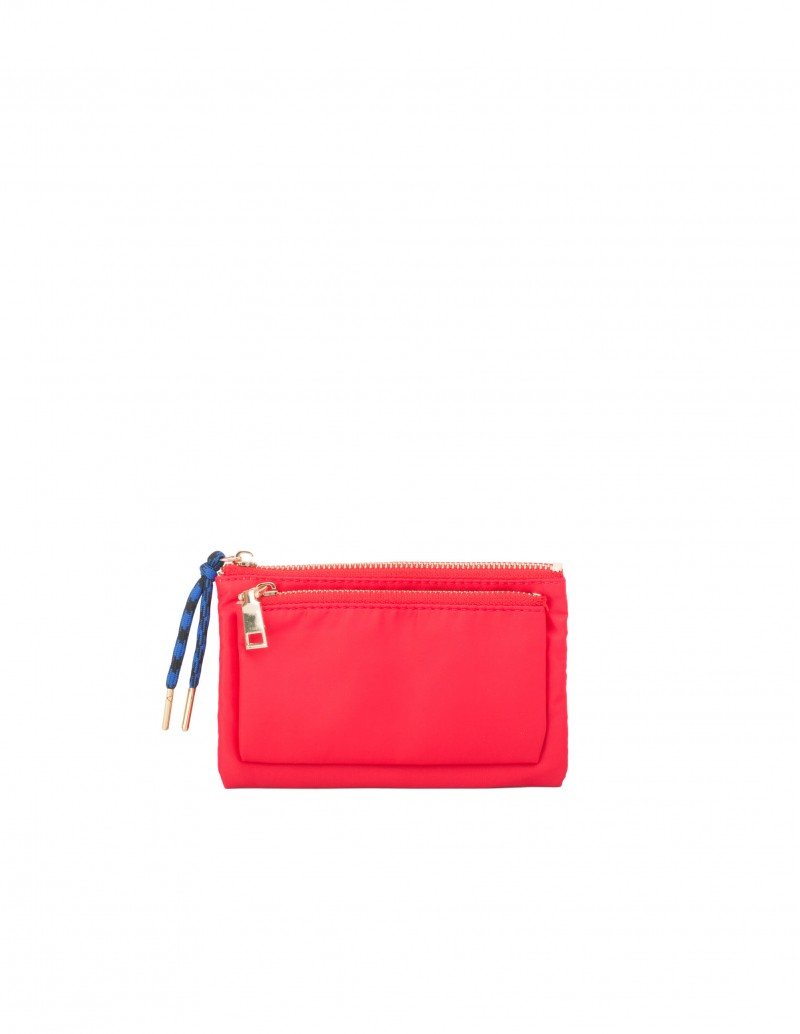 Monedero Nylon Rojo
