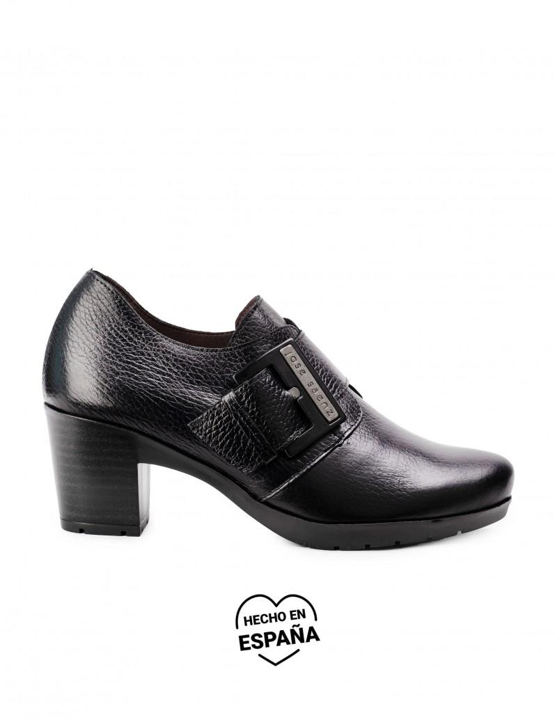Zapatos Tacón Ancho Hebilla