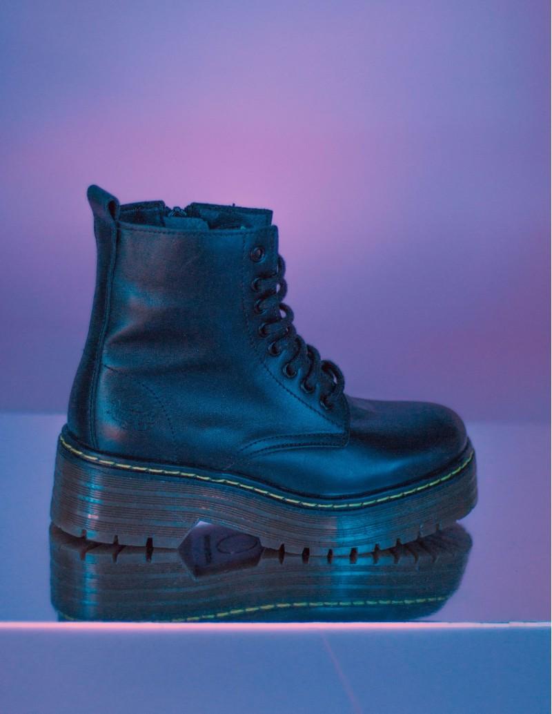 botas  militares piel