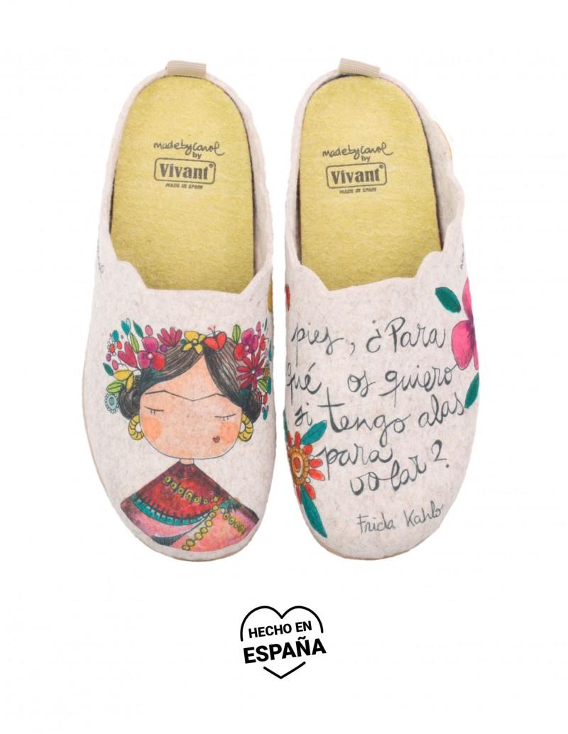 Zapatillas Casa Mujer Frida Khalo