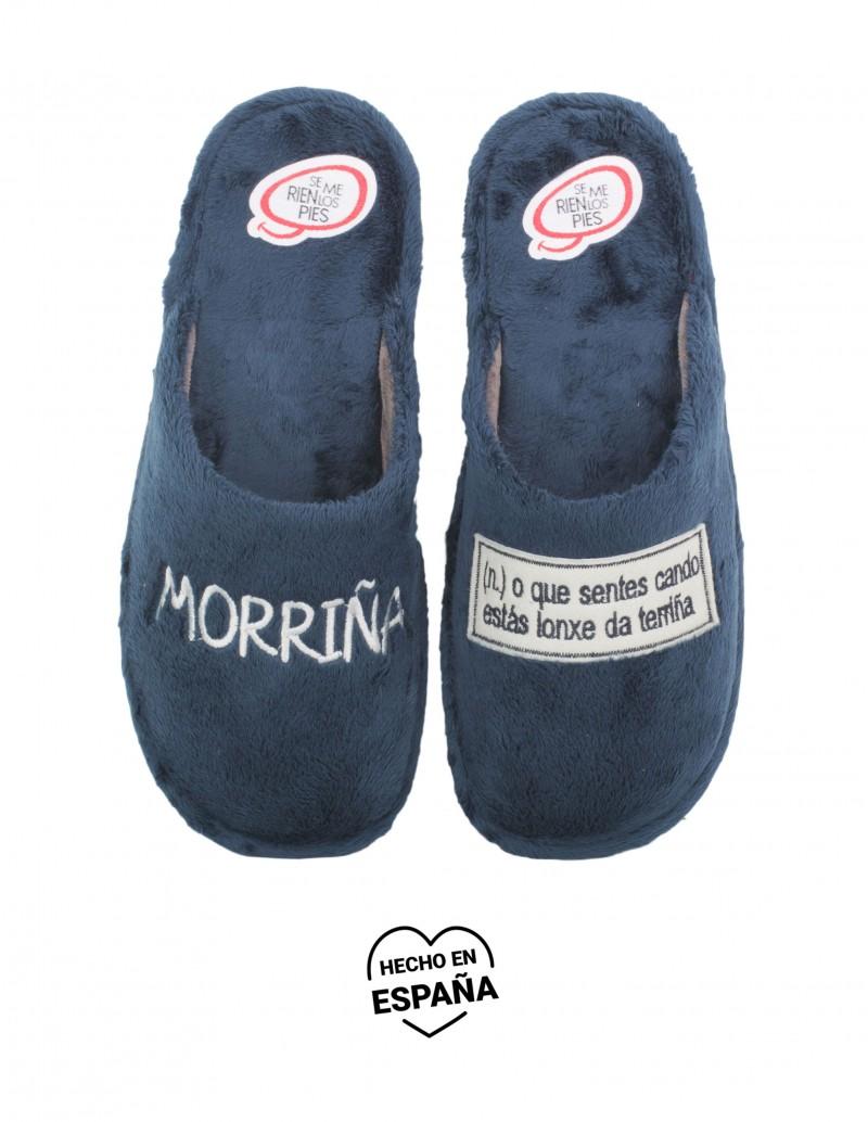 SE ME RIEN LOS PIES Zapatillas Casa Morriña Azul