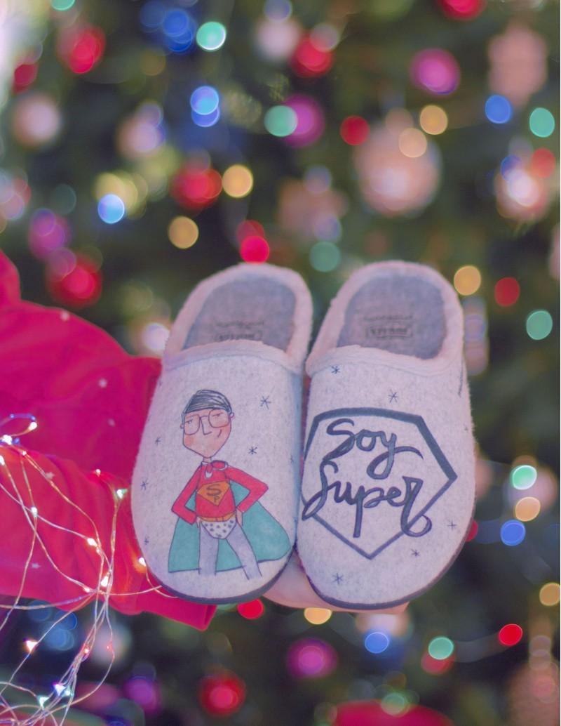 zapatillas casa soy super mensaje