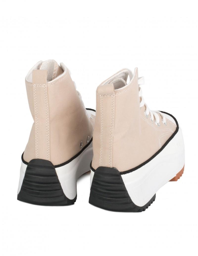 Zapatillas Plataforma Moldeada Beige