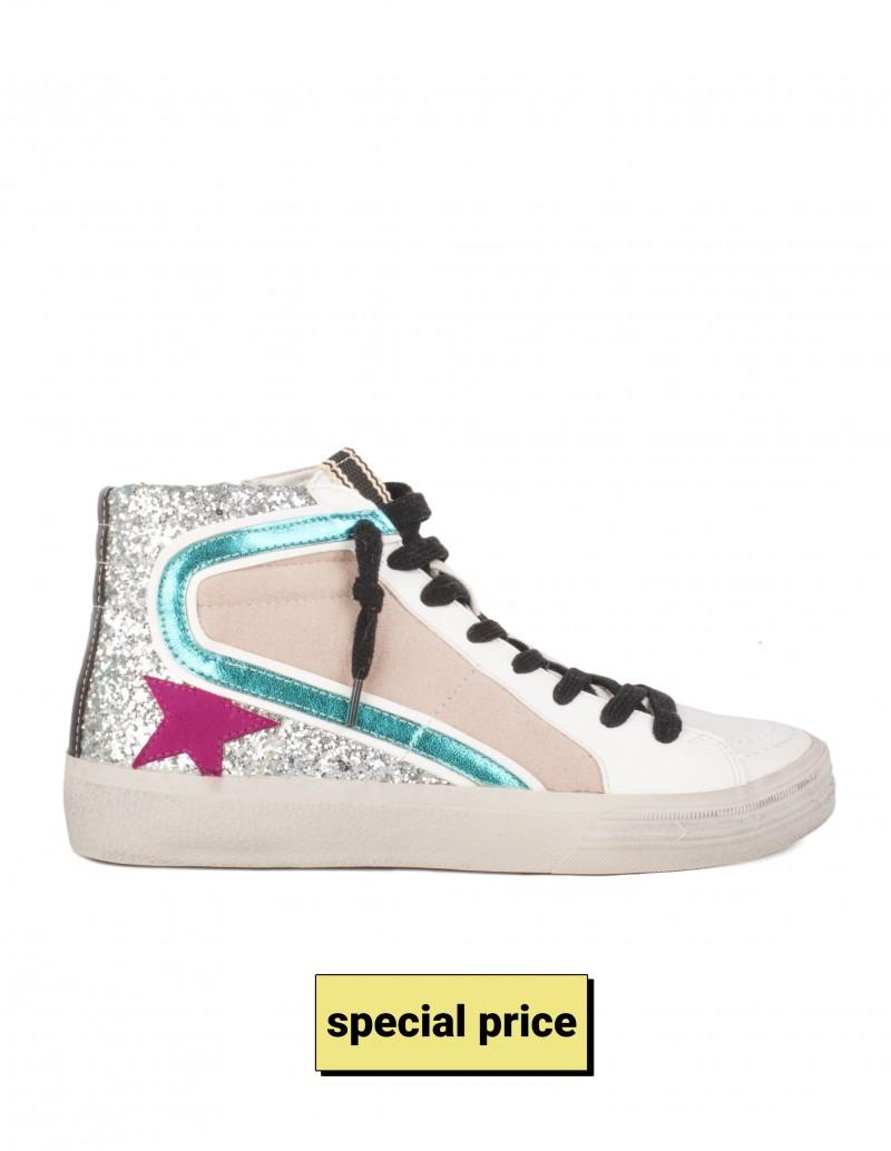 Zapatillas Estrella Fucsia Metalizadas