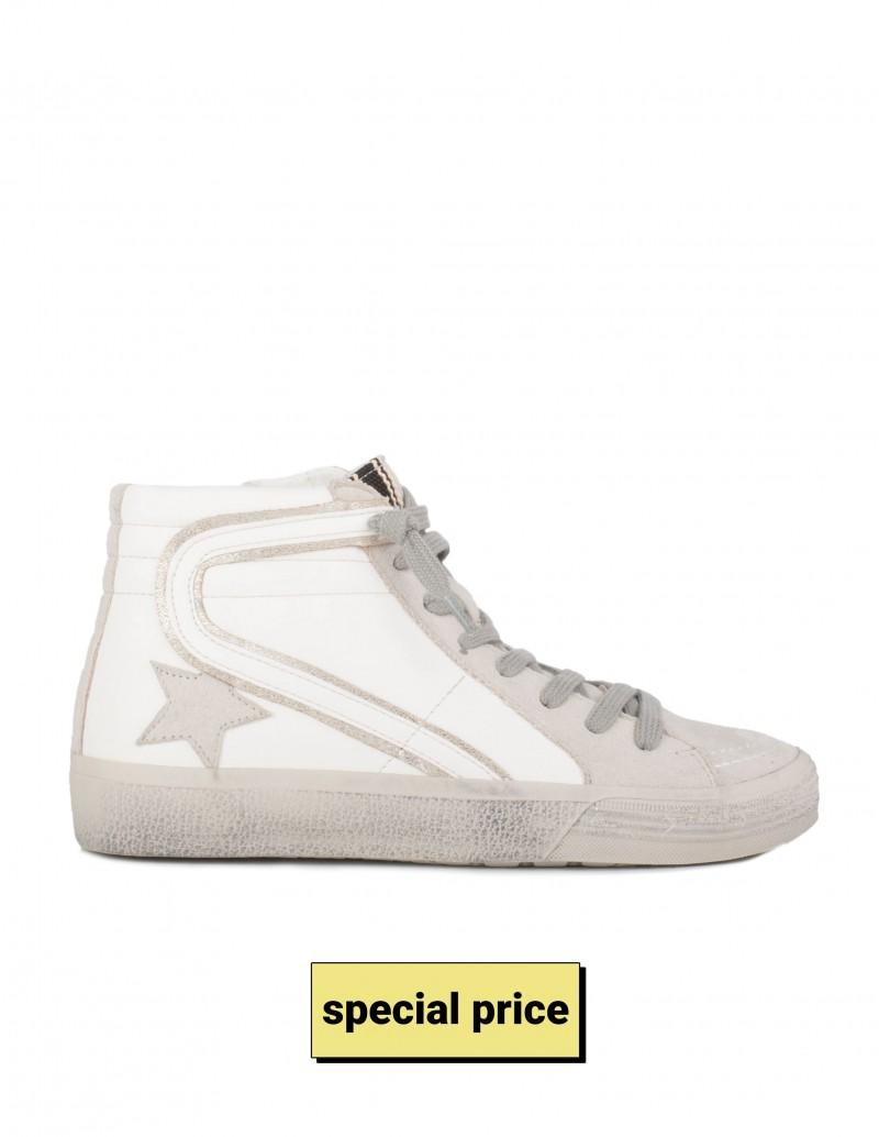 Zapatillas Blancas con Estrella Gris