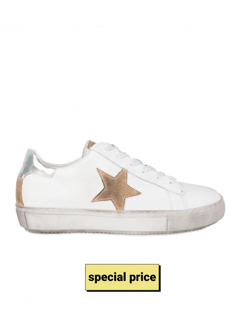 Zapatillas Bajas Estrella Piel Blancas