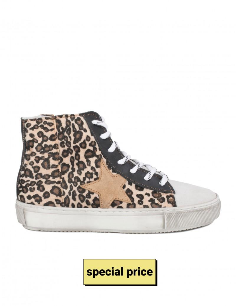 Zapatillas Altas Estrella Leopardo