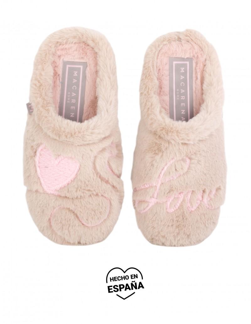Zapatillas de Casa Corazón Love