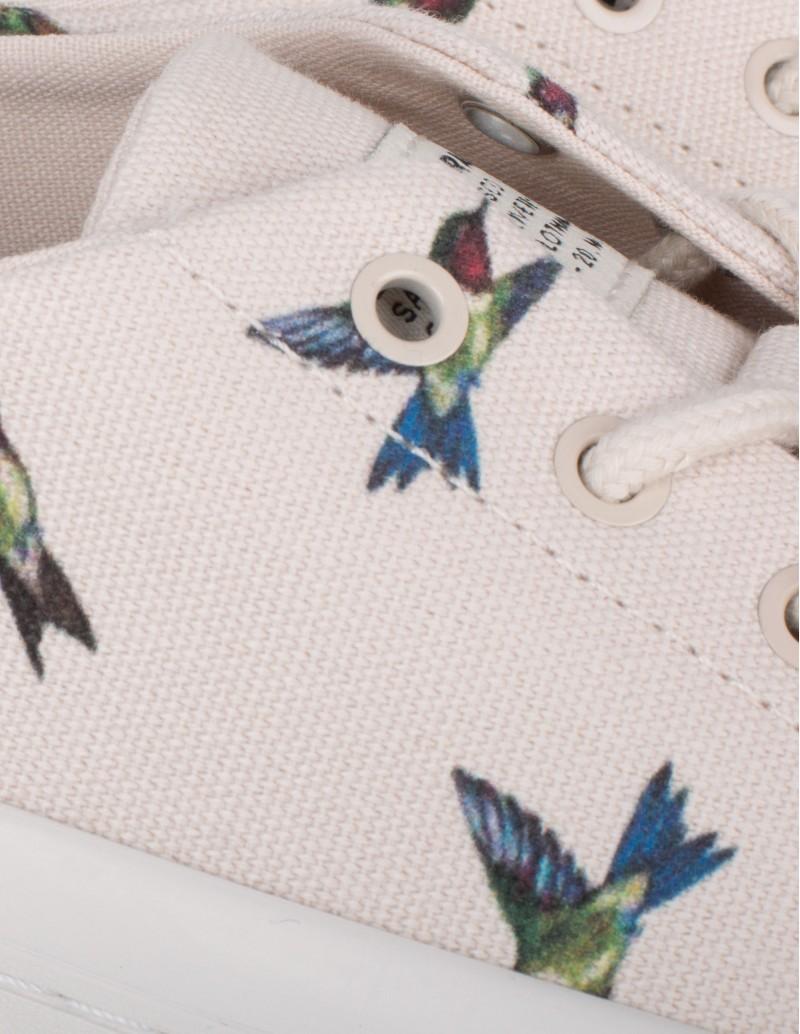 zapatillas estampado colibri
