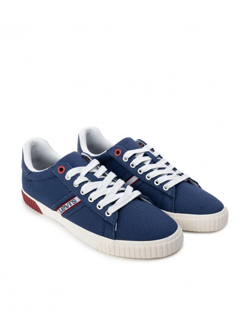 Zapatillas Lona Hombre Azul Klein